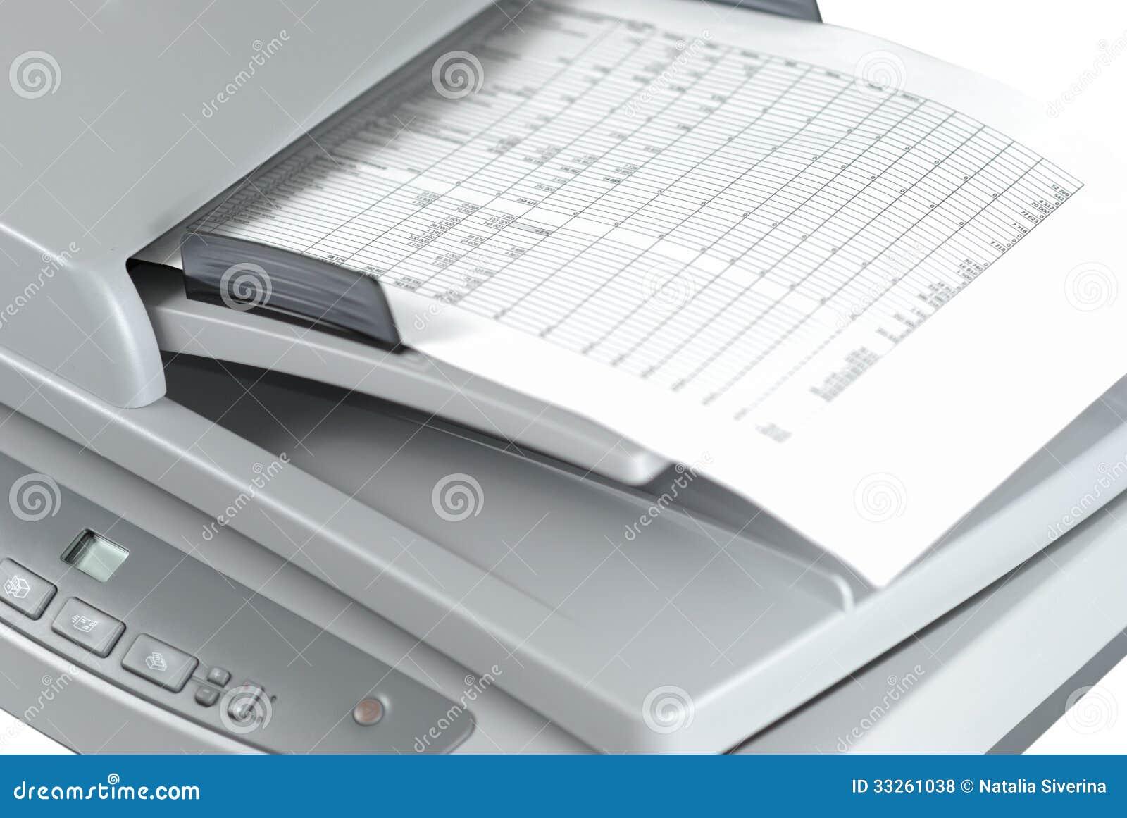 Scanner mit Dokument