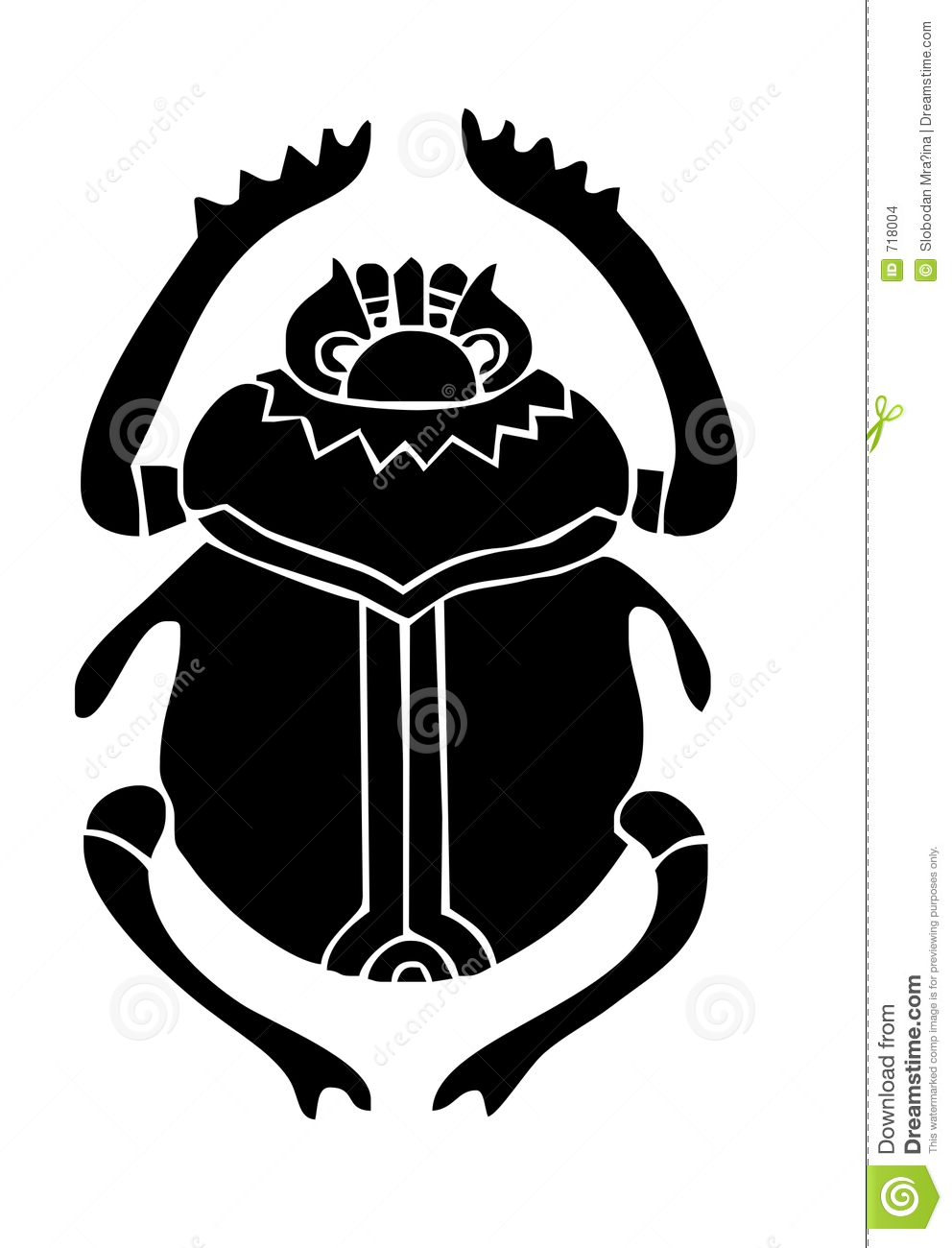 Scarab Beatle Stock Illustration Illustration Of Civilization 718004