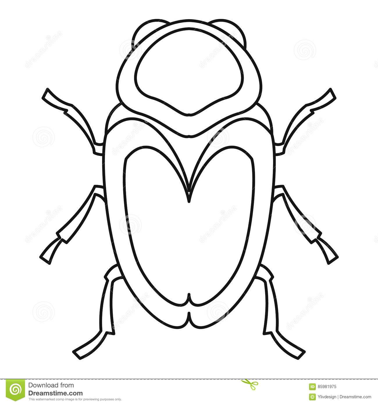 Scarab Beetle Icon, Outline Style Stock Vector ...
