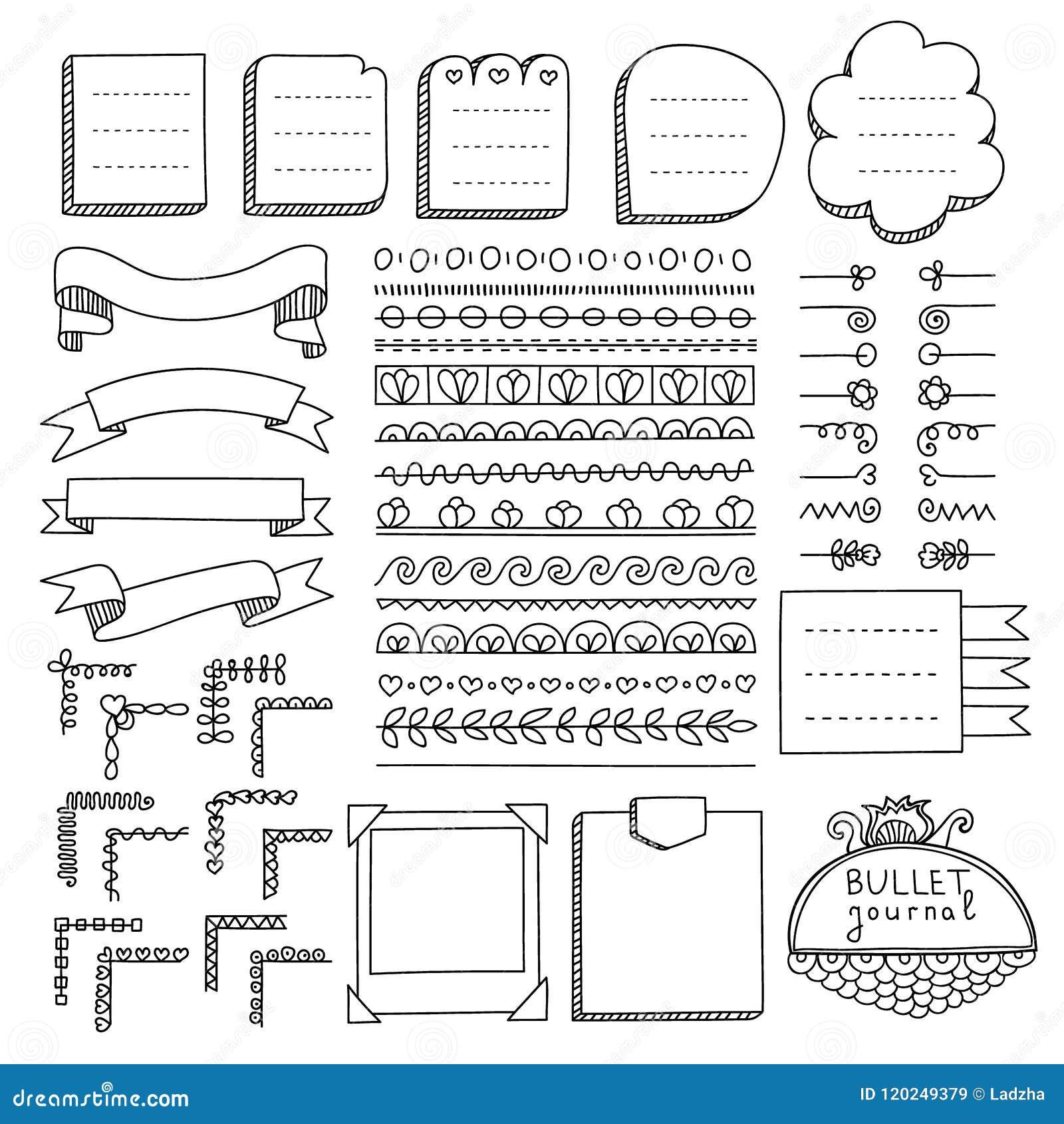 Scarabocchii le insegne ed altre elementi di progettazione per il giornale della pallottola