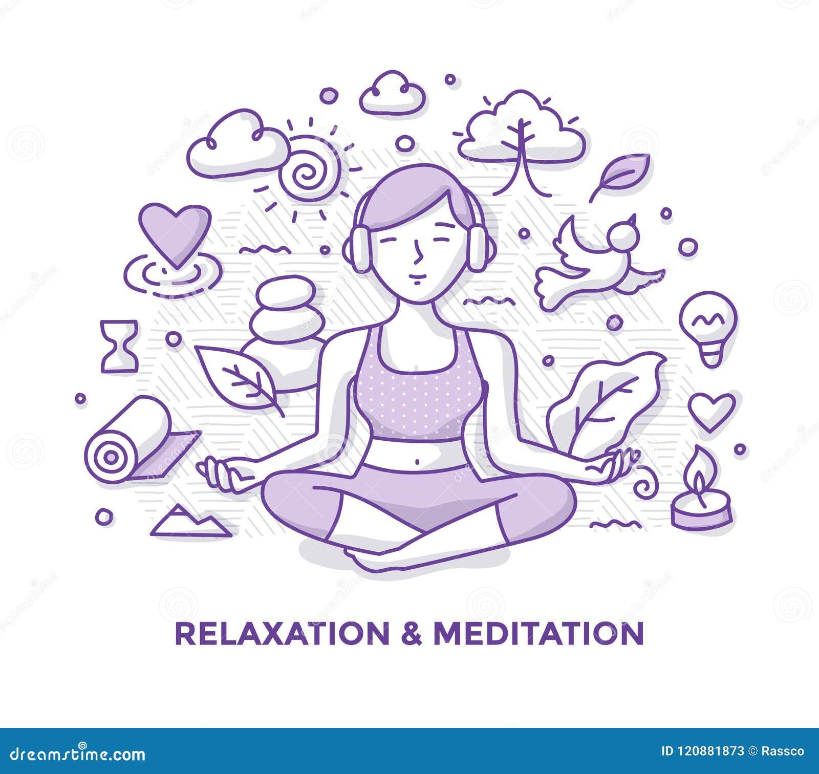 Scarabocchio di meditazione e di rilassamento