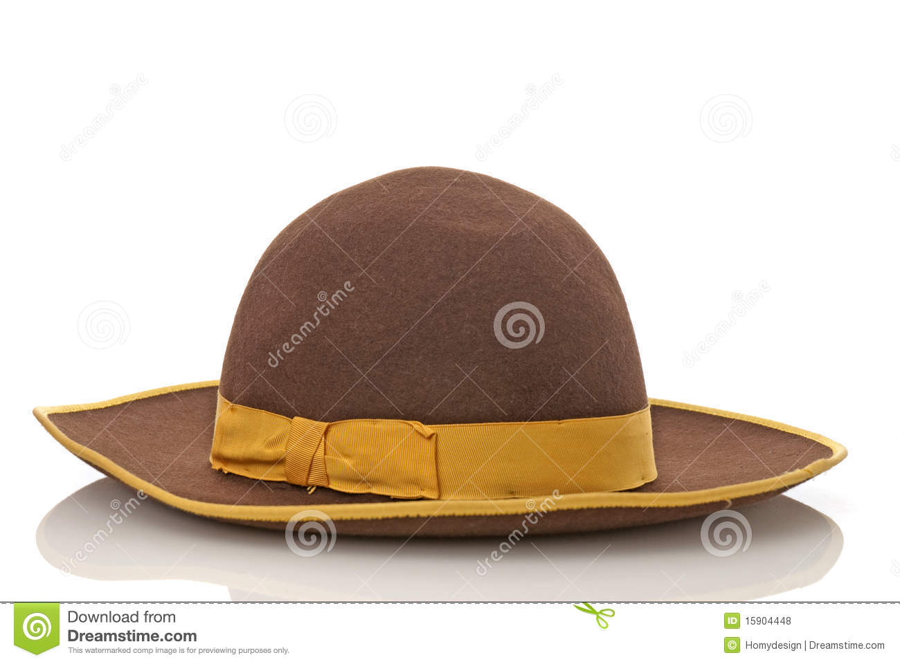 Scarecrow Brown Felt Hat With With Yellow Loop Royalty Free Stock ...