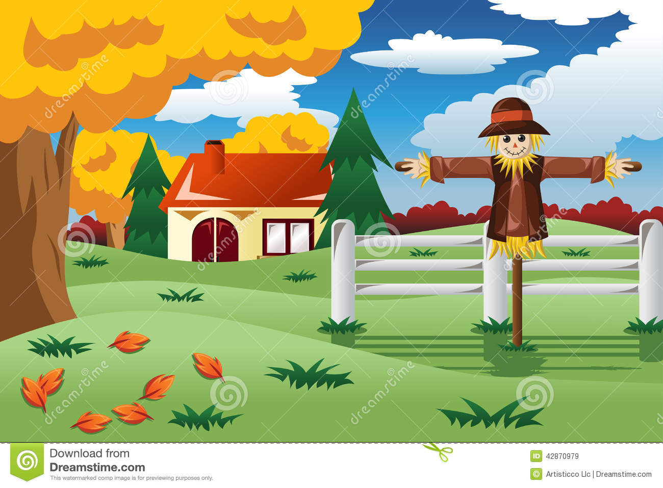 scarecrow in the fall season stock vector image 42870979 free thanksgiving clip art images free thanksgiving clip art animated