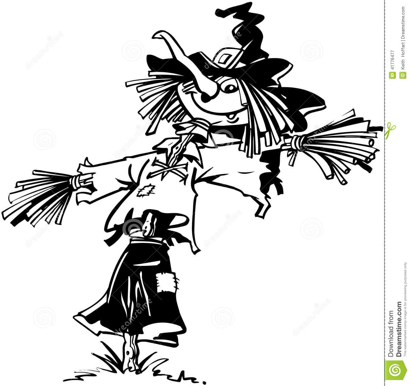 Scarecrow Halloween Cartoon Vector Clipart Stock Vector ...