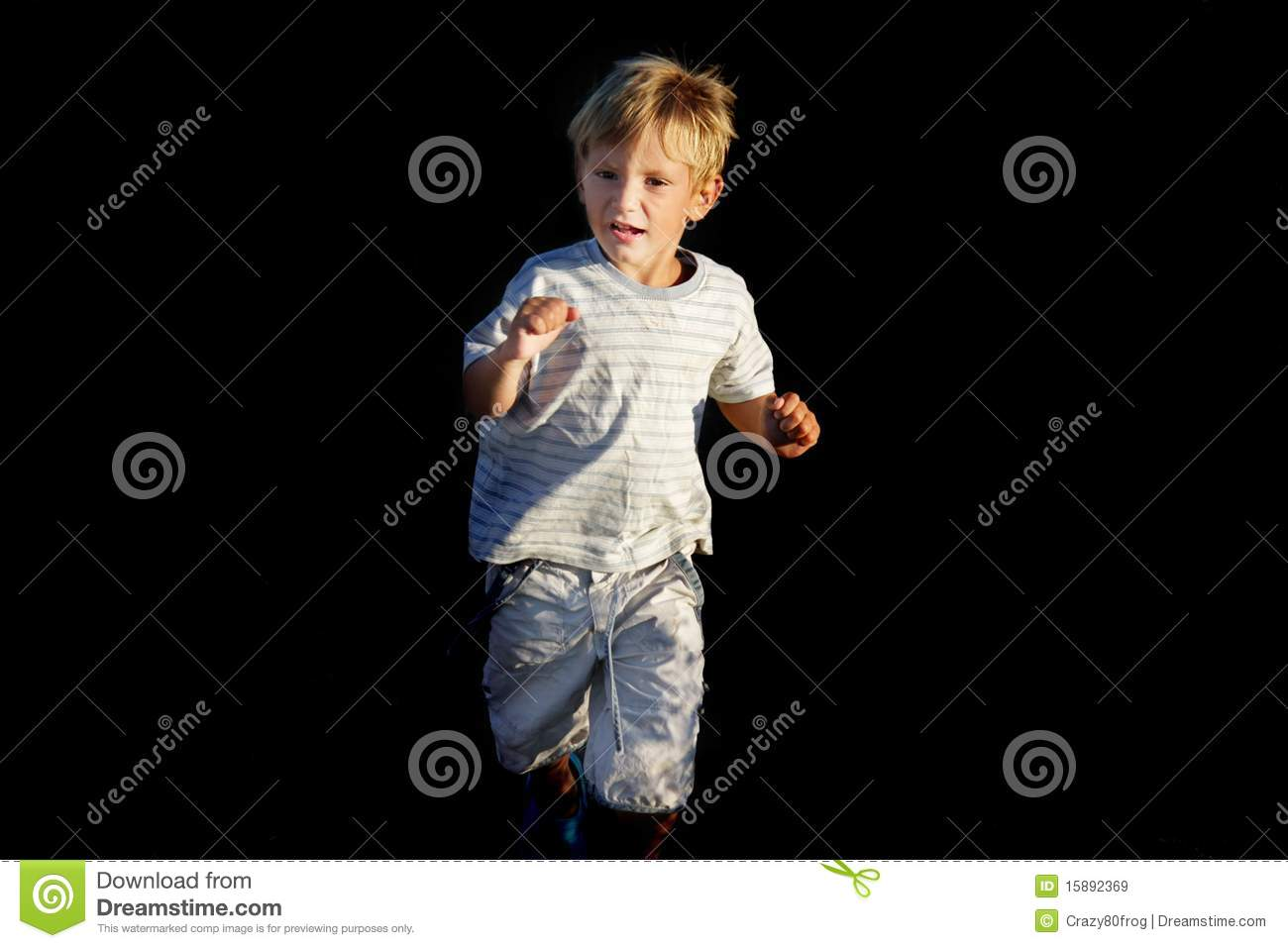 Scared boy running away stock image. Image of childcare ...