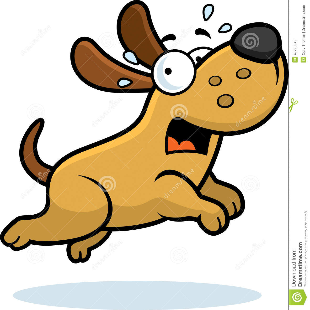 scared cartoon dog stock vector illustration of afraid 47296843 rh dreamstime com  dog running clipart black and white