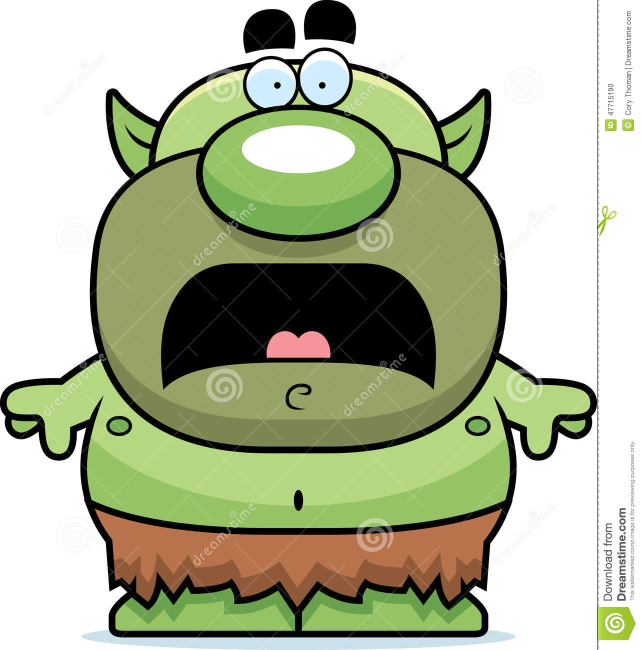 scared cartoon goblin stock vector image of graphic