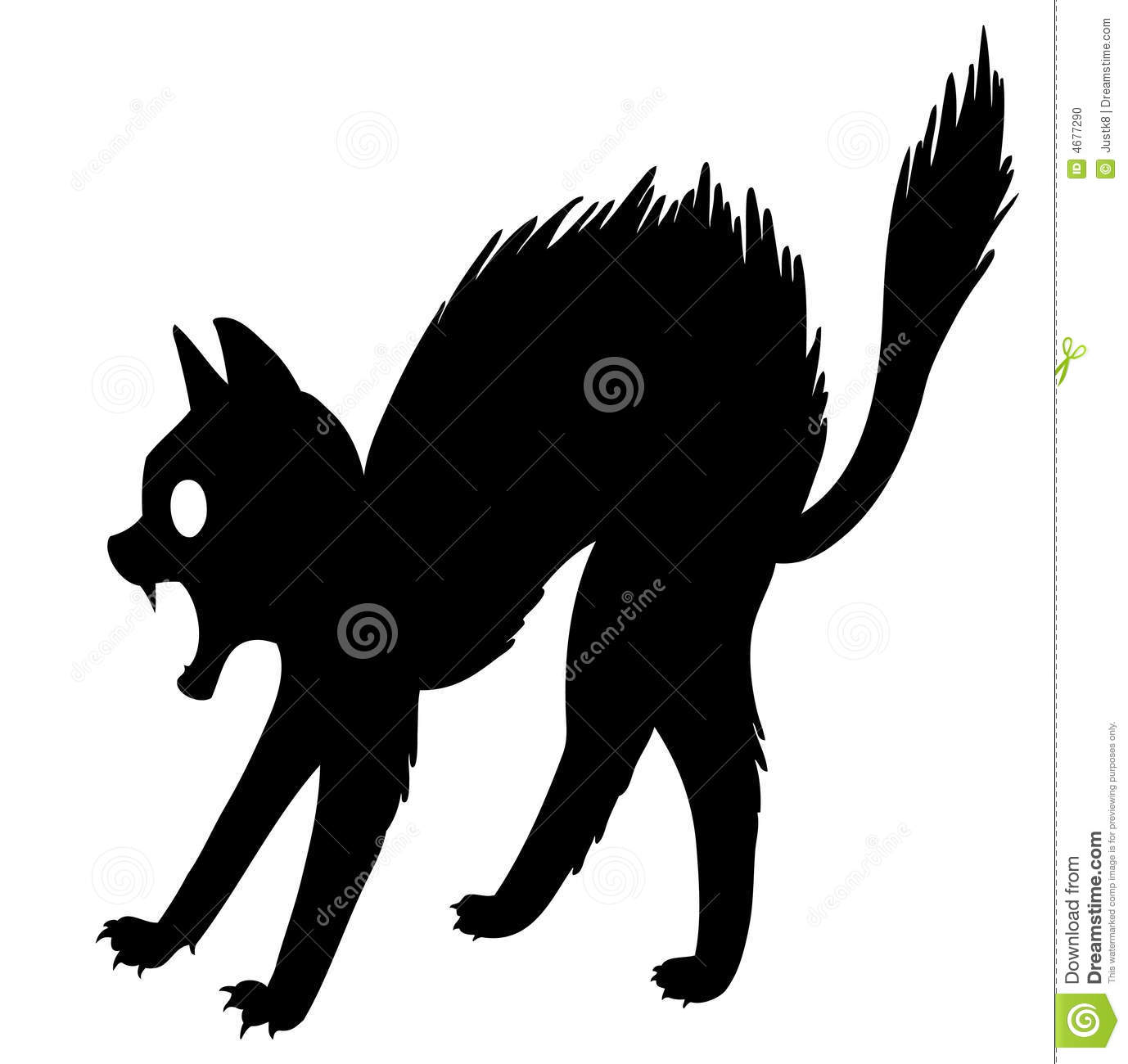 Scared Cat Stock Photo - Image: 4677290