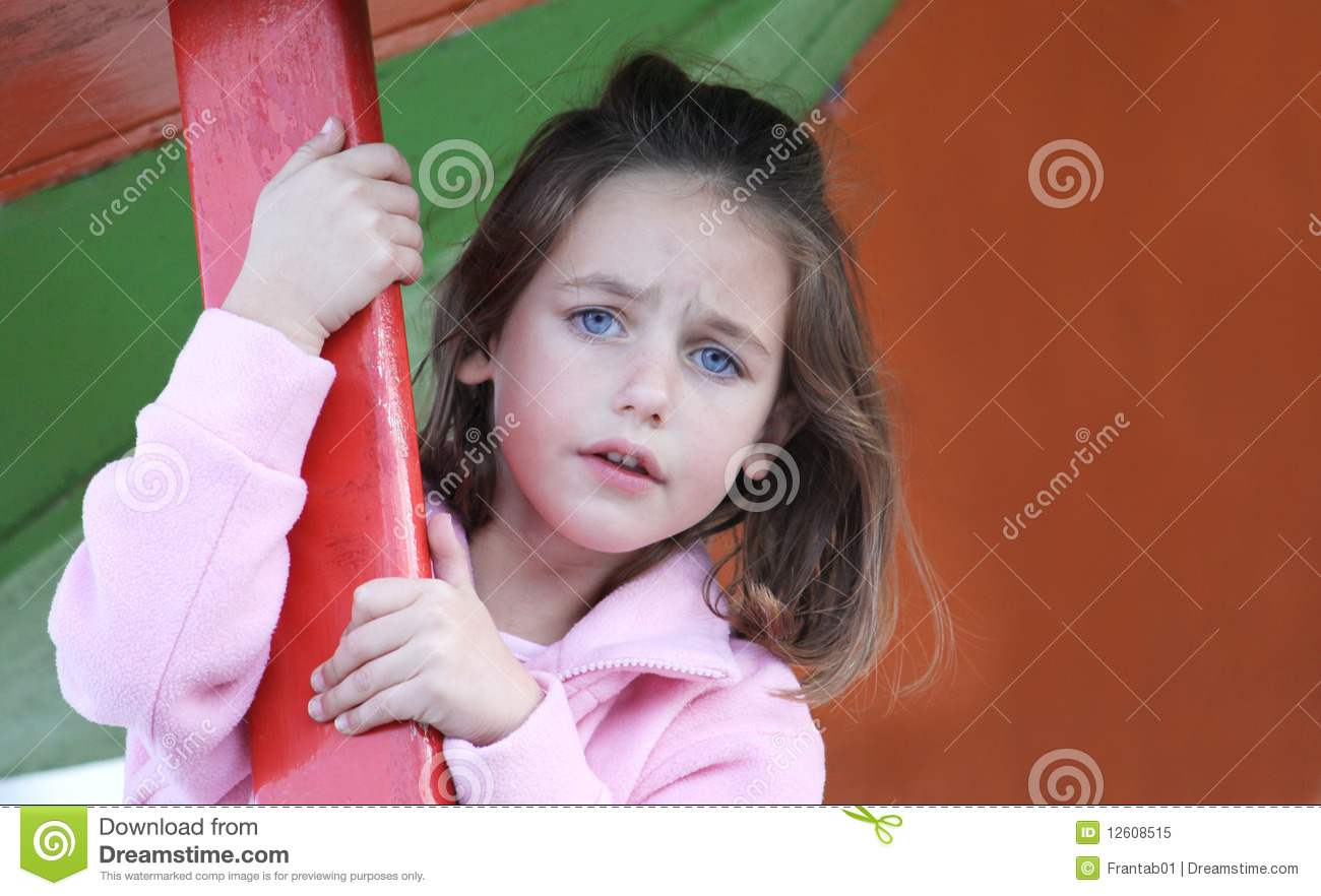 Scared child stock image. Image of challenge, adorable ...