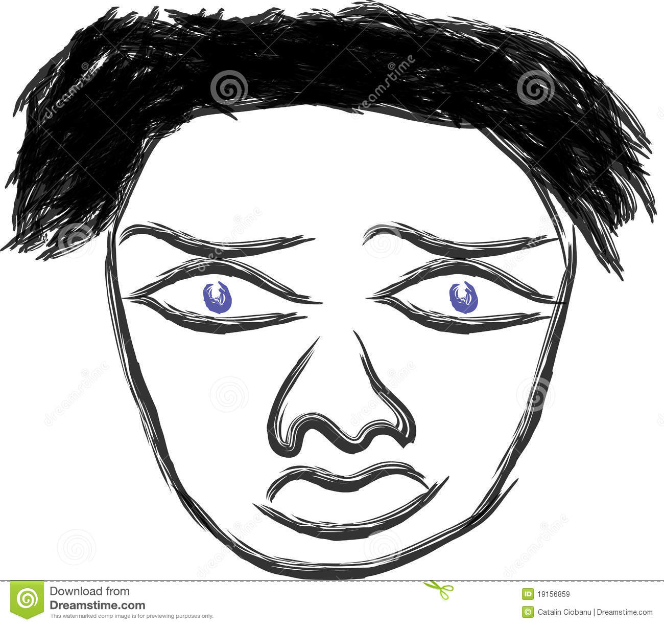Scared face stock illustration. Image of fashion, keywords ...
