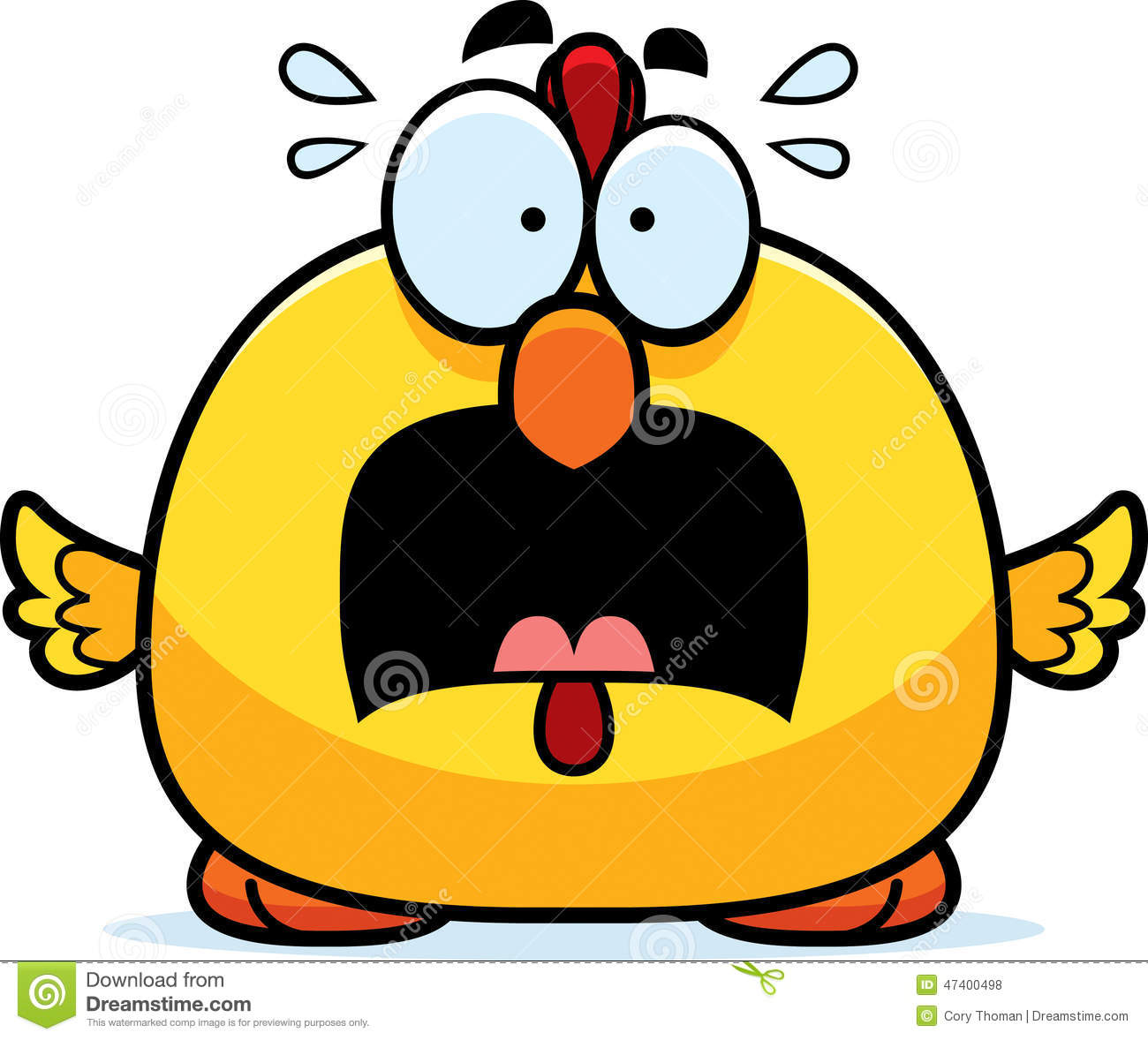 Scared Little Chicken Stock Vector - Image: 47400498