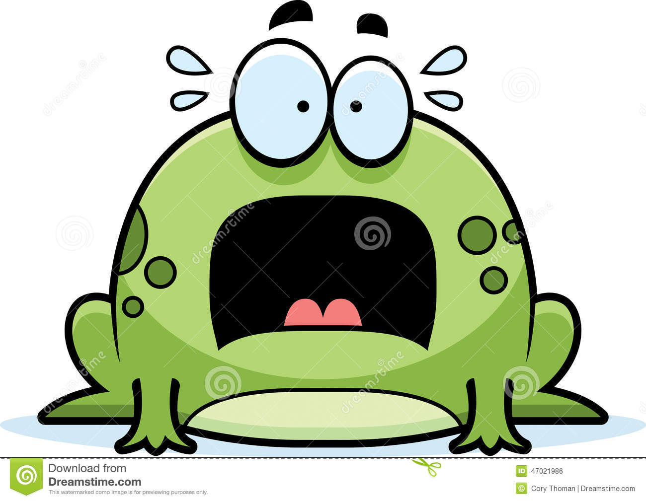 scared little frog stock vector illustration of terror 47021986 Devil Frog Screaming Banshee