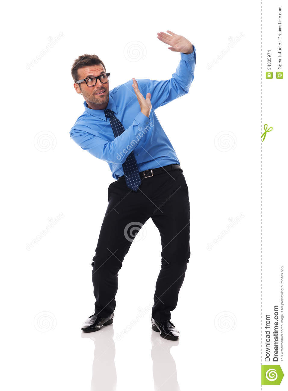 Scared man stock photo. Image of carrying, contemporary ...