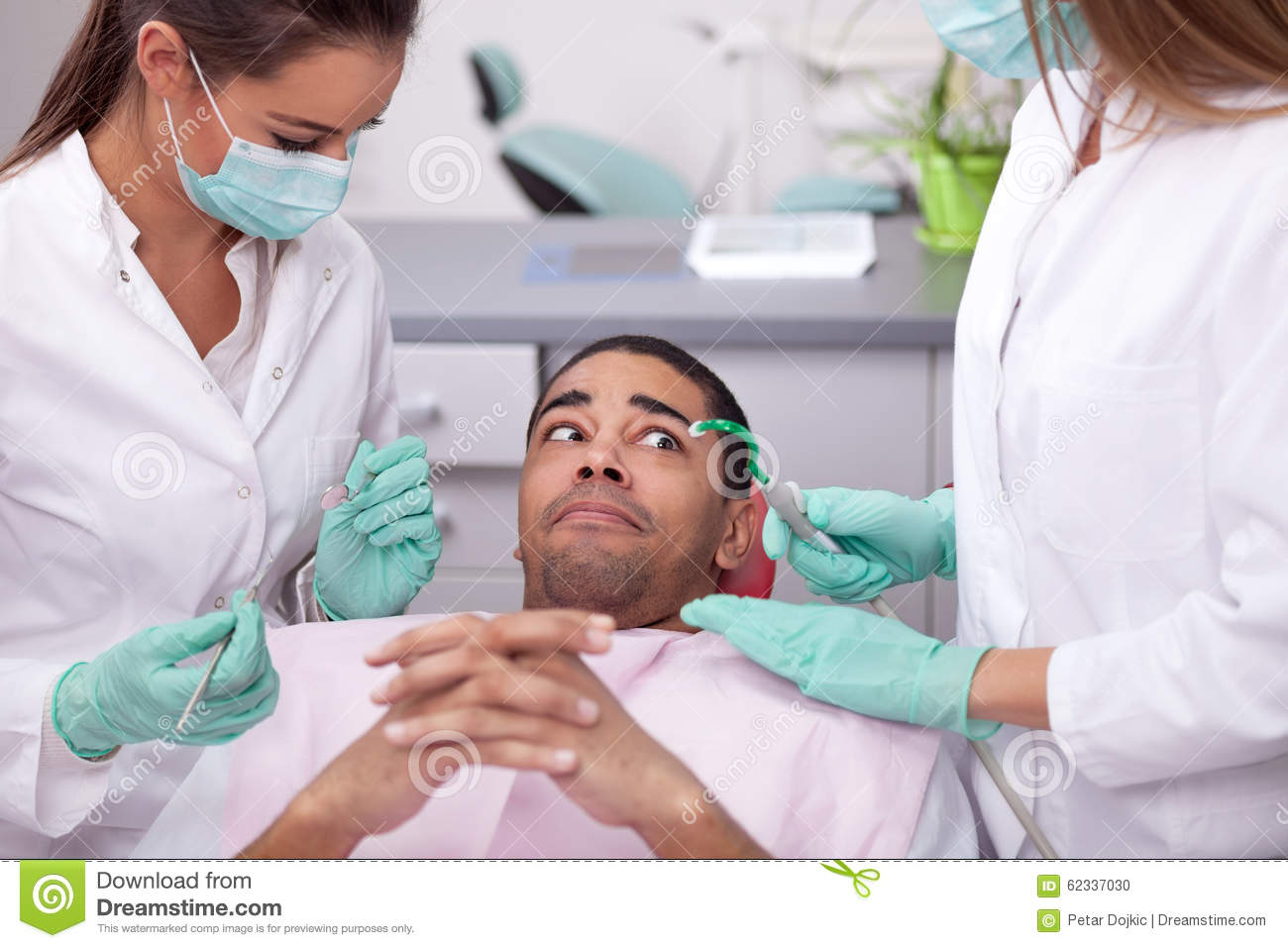 The Scared Patient At Dentist