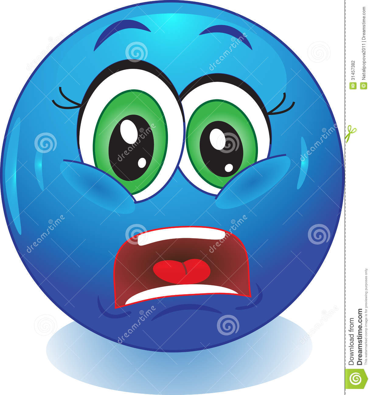 Scared Smiley. Stock Photography - Image: 31457382