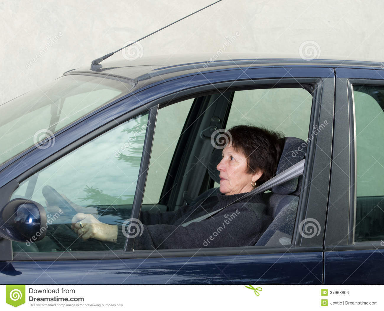 Scared driver stock image. Image of gloves humour male