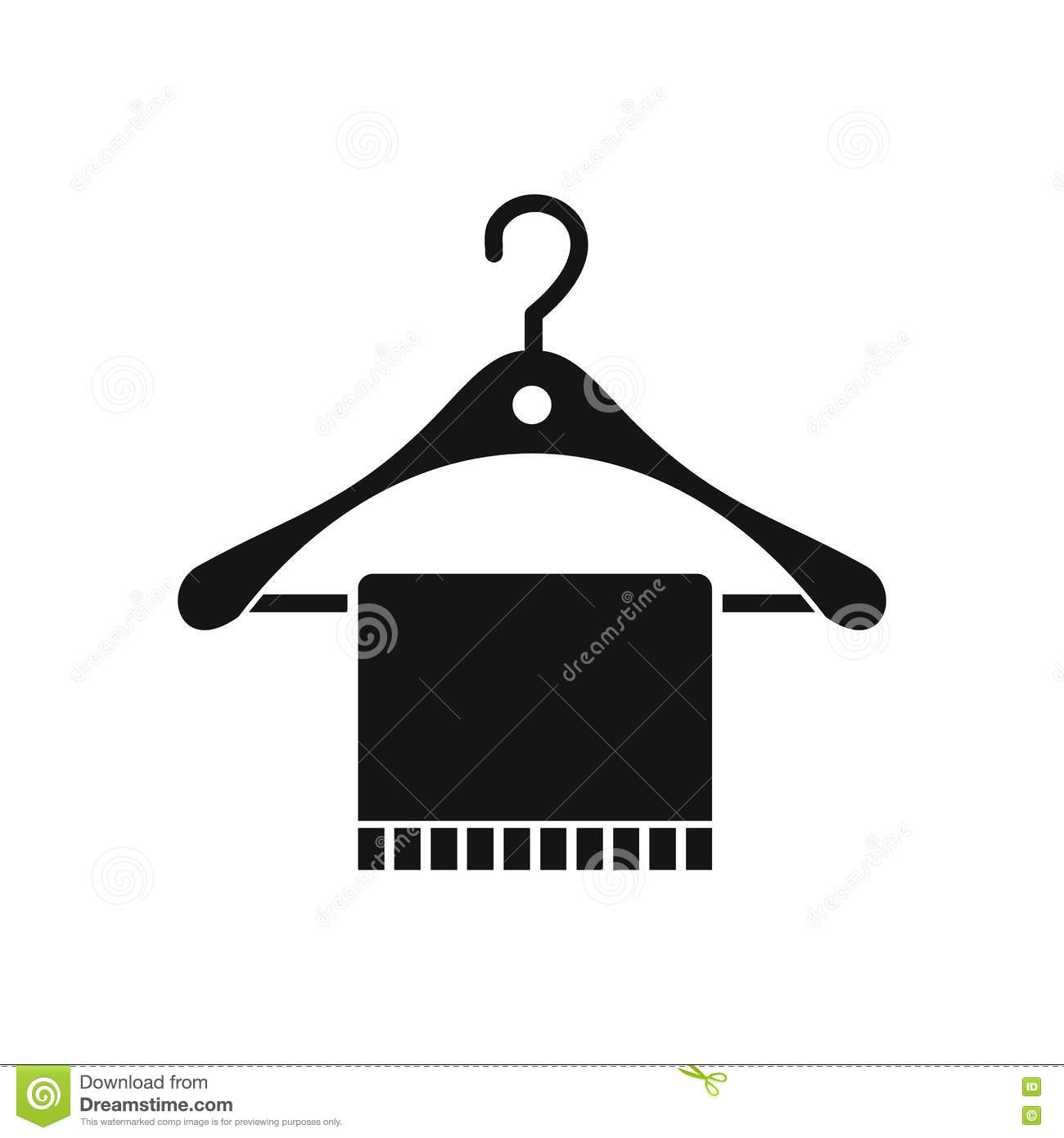 e95980e57ab1 Scarf on coat hanger icon in simple style on a white background vector  illustration. More similar stock illustrations