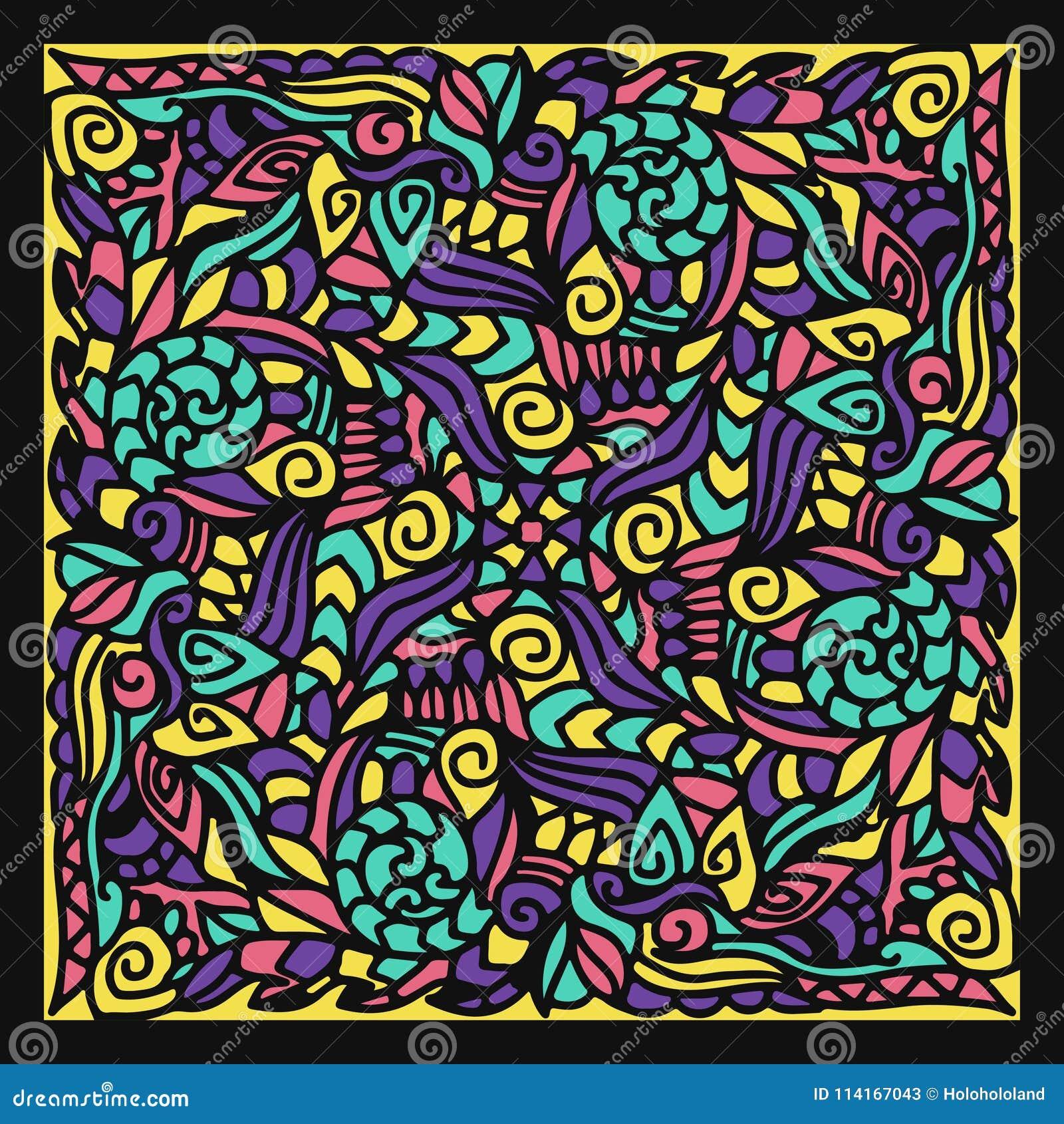 Scarf pattern stock vector. Illustration of wallpaper - 114167043