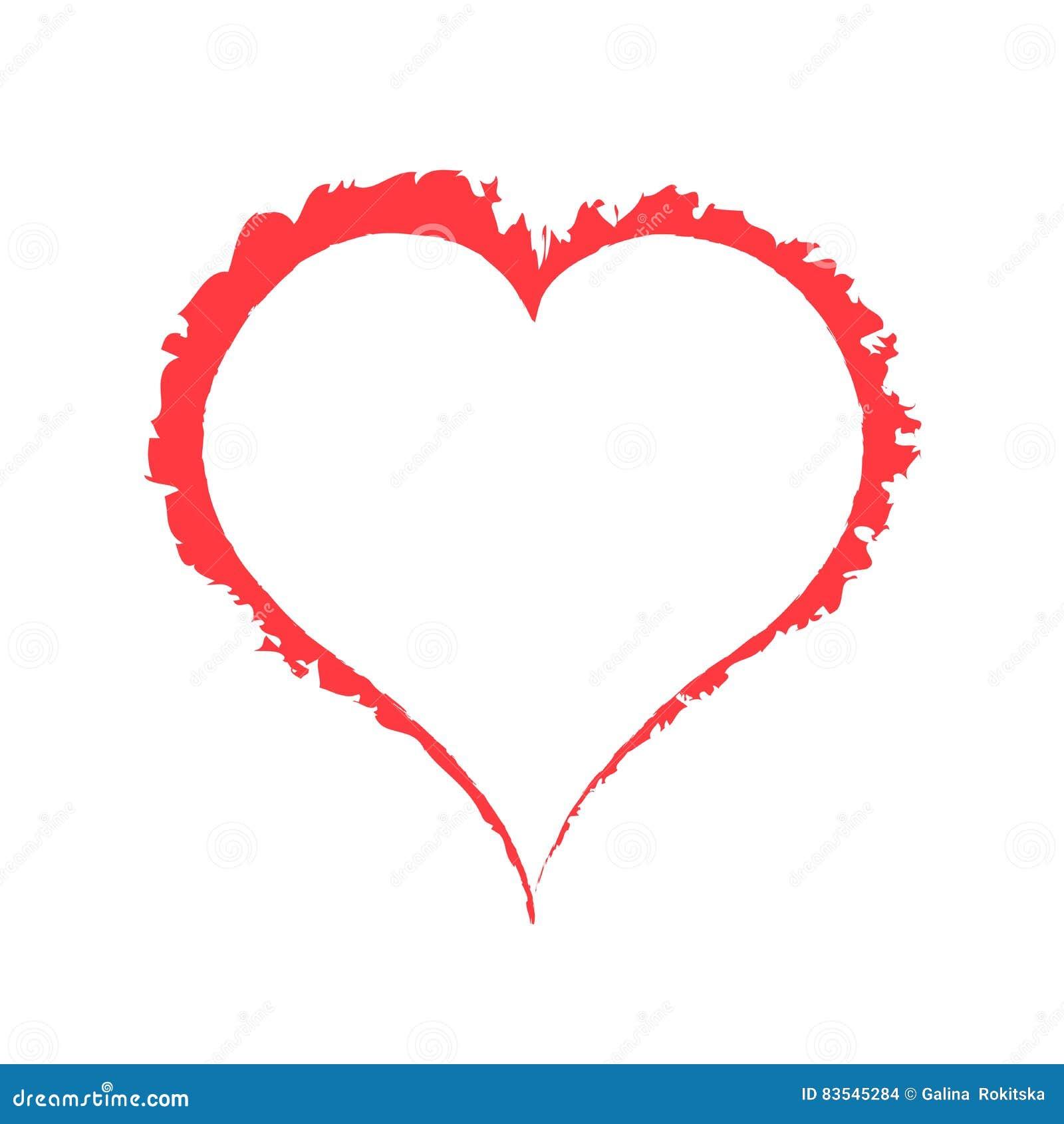 Scarlet fat heart on white background illustration stock scarlet fat heart on white background illustration biocorpaavc