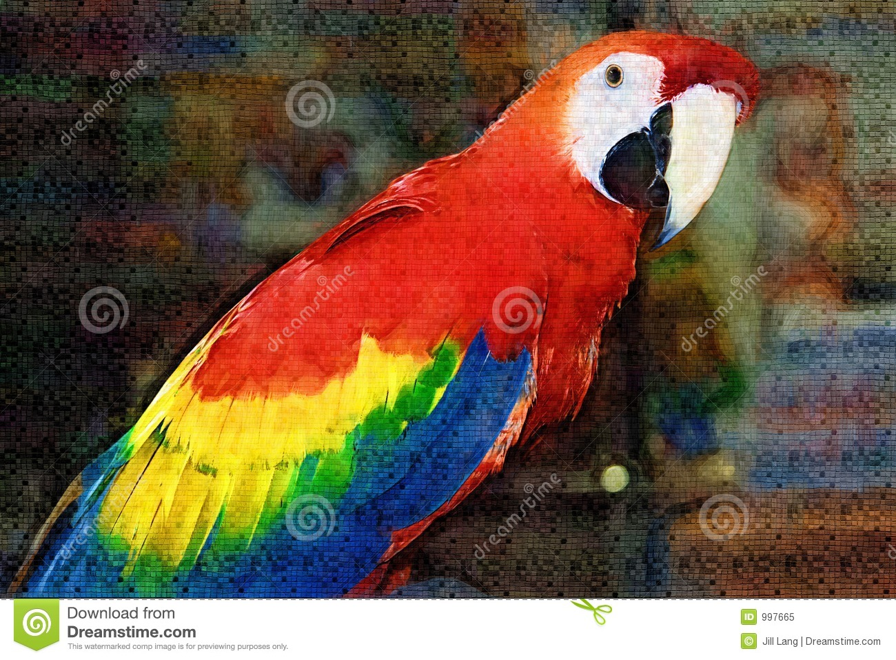 Scarlet Macaw Painting Royalty Free Stock Photo - Image ...