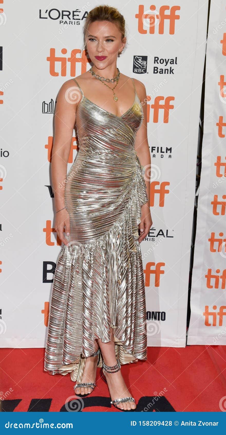 Scarlett Johansson on red carpet for Jojo Rabbit movie premiere at TIFF