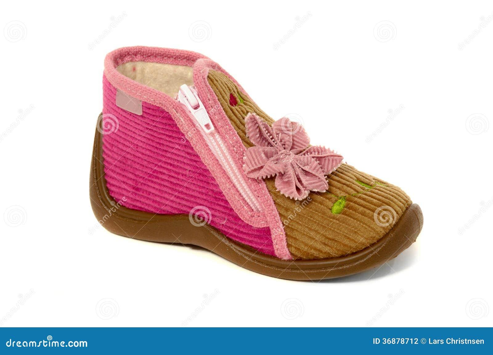 Download Scarpa di bambino fotografia stock. Immagine di bianco - 36878712