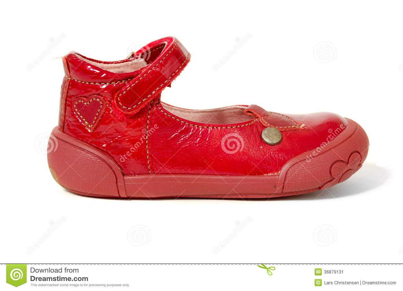 Download Scarpa rossa immagine stock. Immagine di isolato, closeup - 36879131