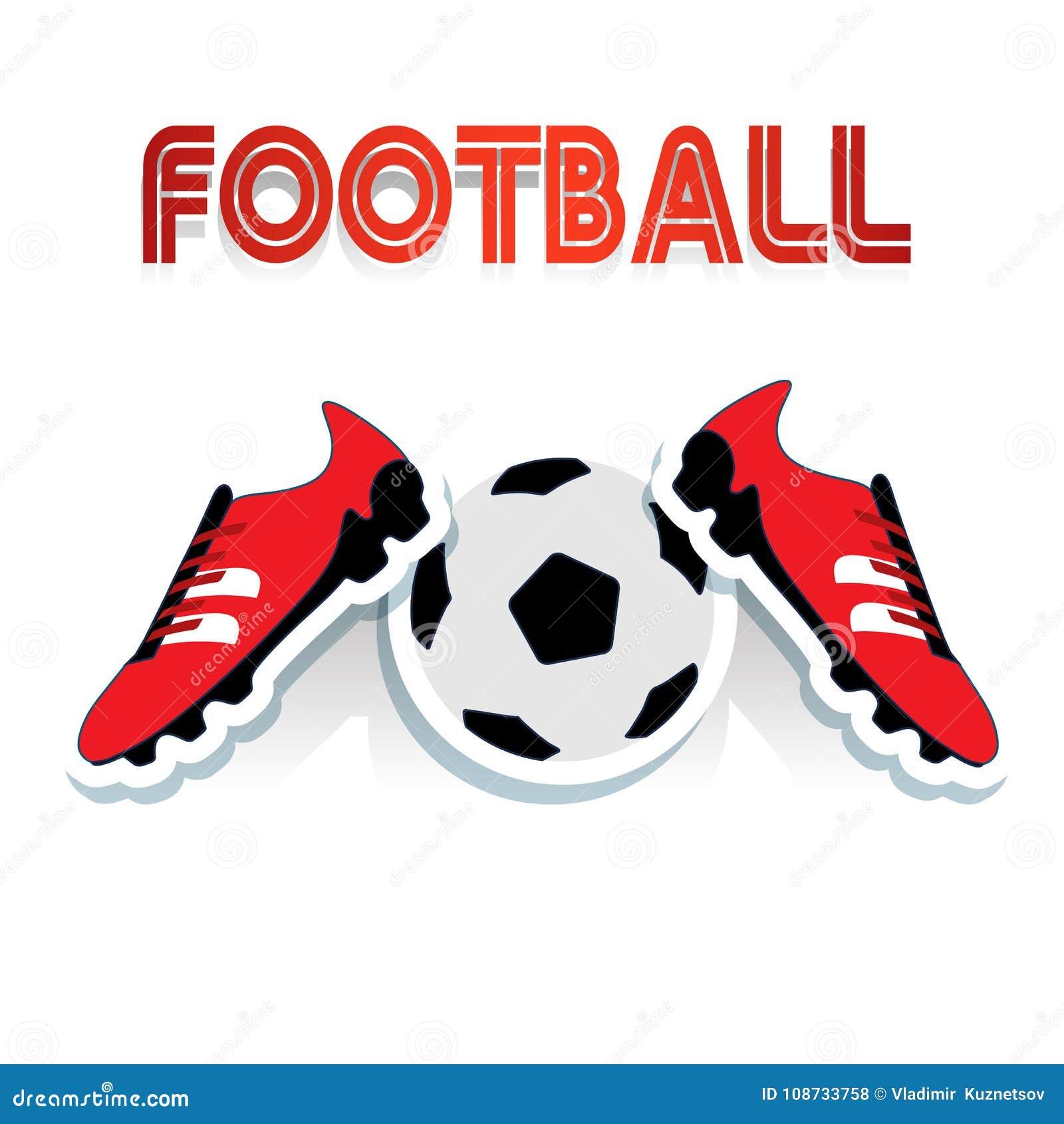 scarpa da calcio cartoon