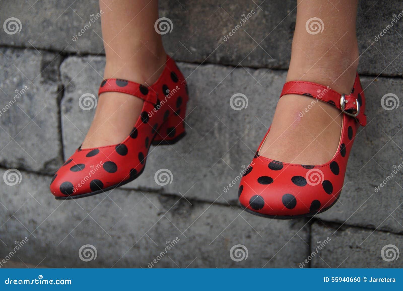 the best attitude be2ee 18352 Scarpe Spagnole Di Ballo Di Flamenco - Sedendosi Fotografia ...