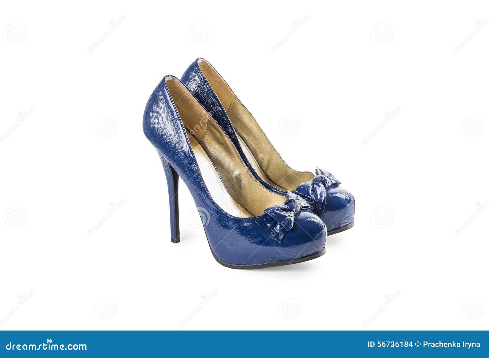 Blu Stock Fotografia Con Verniciate I Tacchi Alti Femminile Scarpe 5wRgq1n