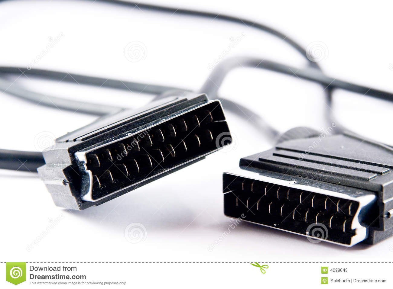 Scart video cable