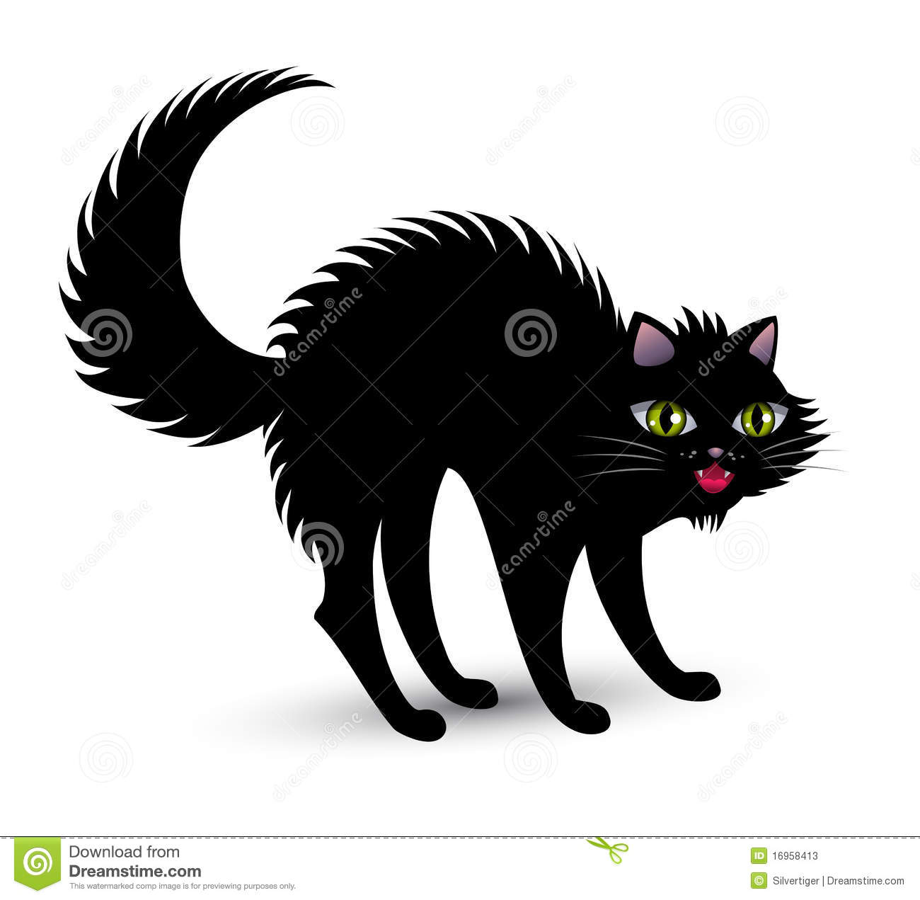 Scared Cat Clipart Scary black cat