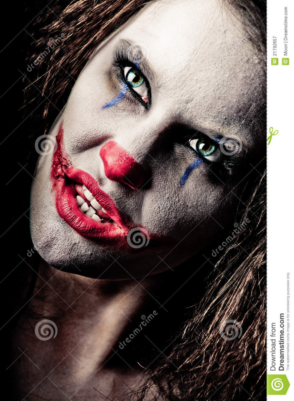 Scary Clown Royalty Free Stock Photography - Image: 21792657