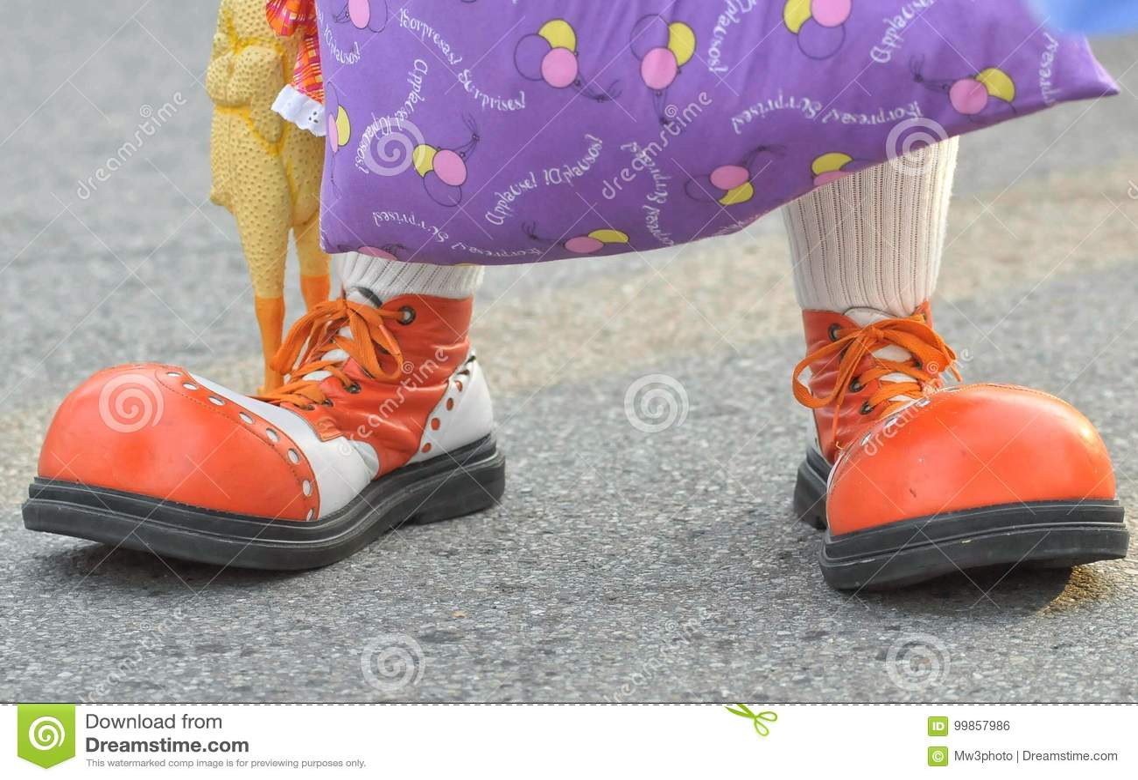 scary clown feet stock photo image of cute clown feet 99857986