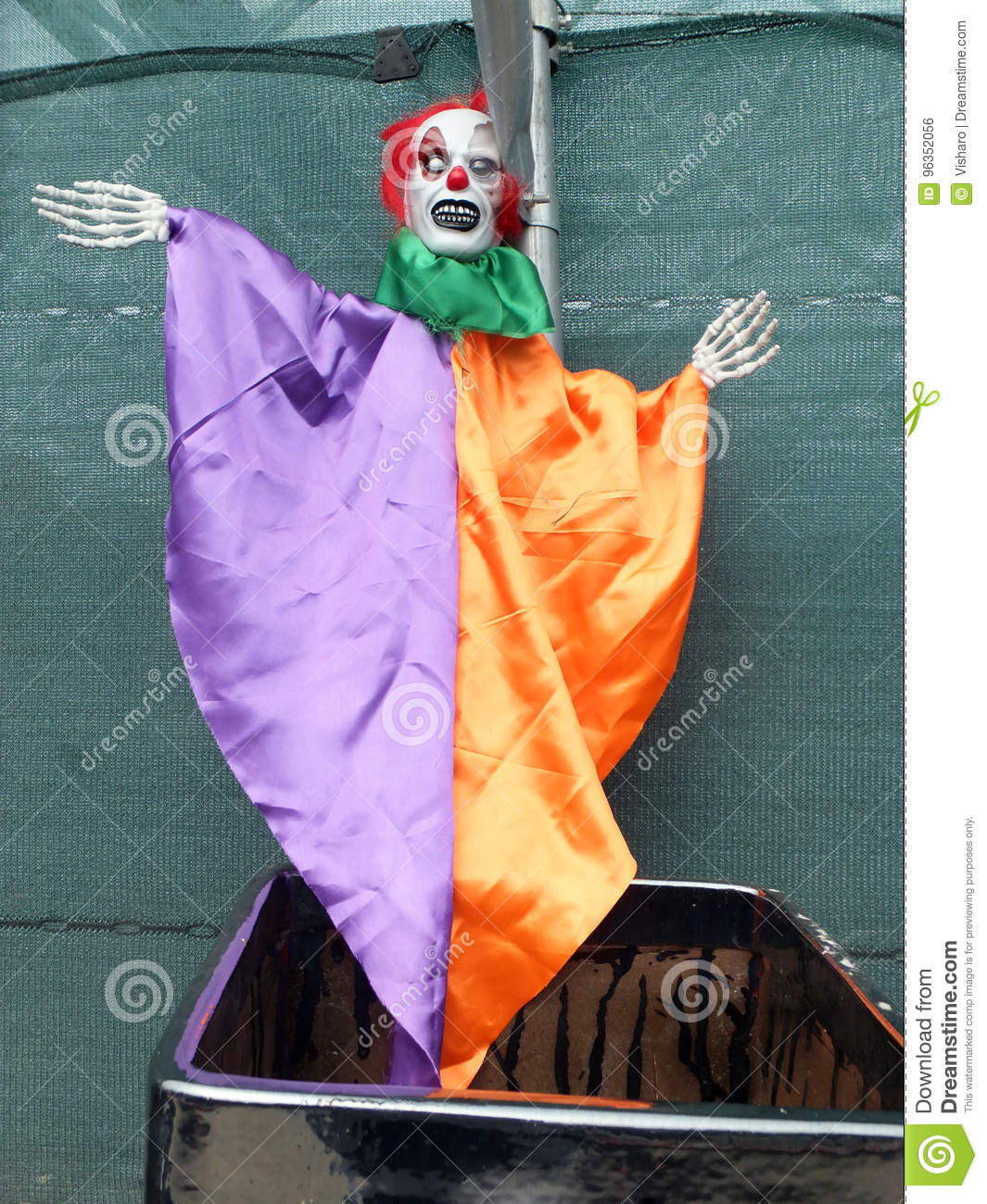 Scary Clown Figure Stock Photo. Image Of Ghost, Clown