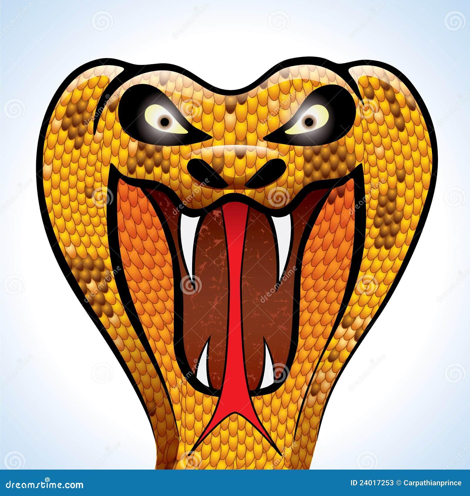 Scary Cobra Head Stock Illustration. Illustration Of