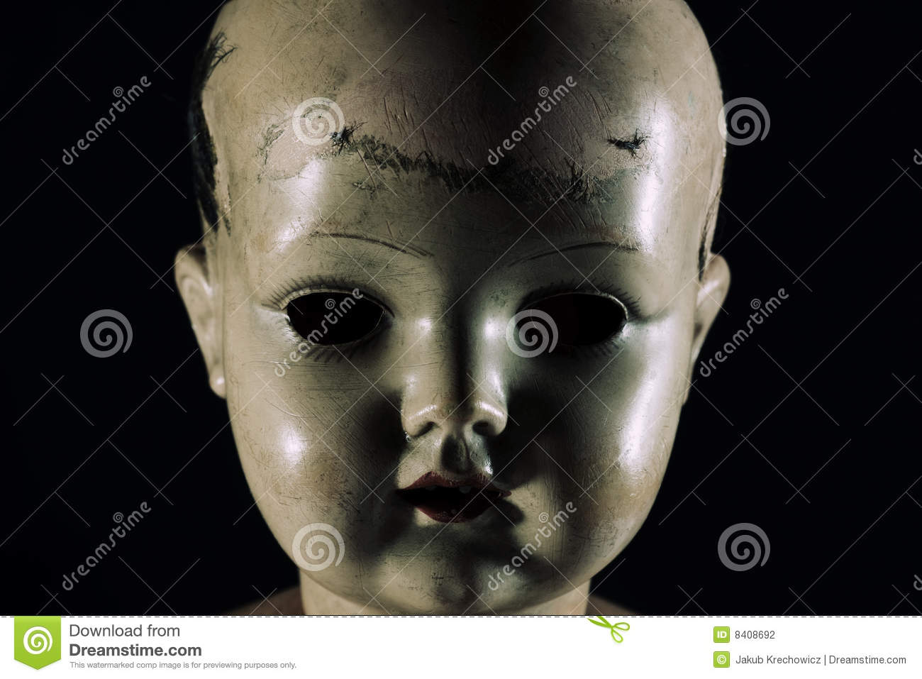 Scary doll face