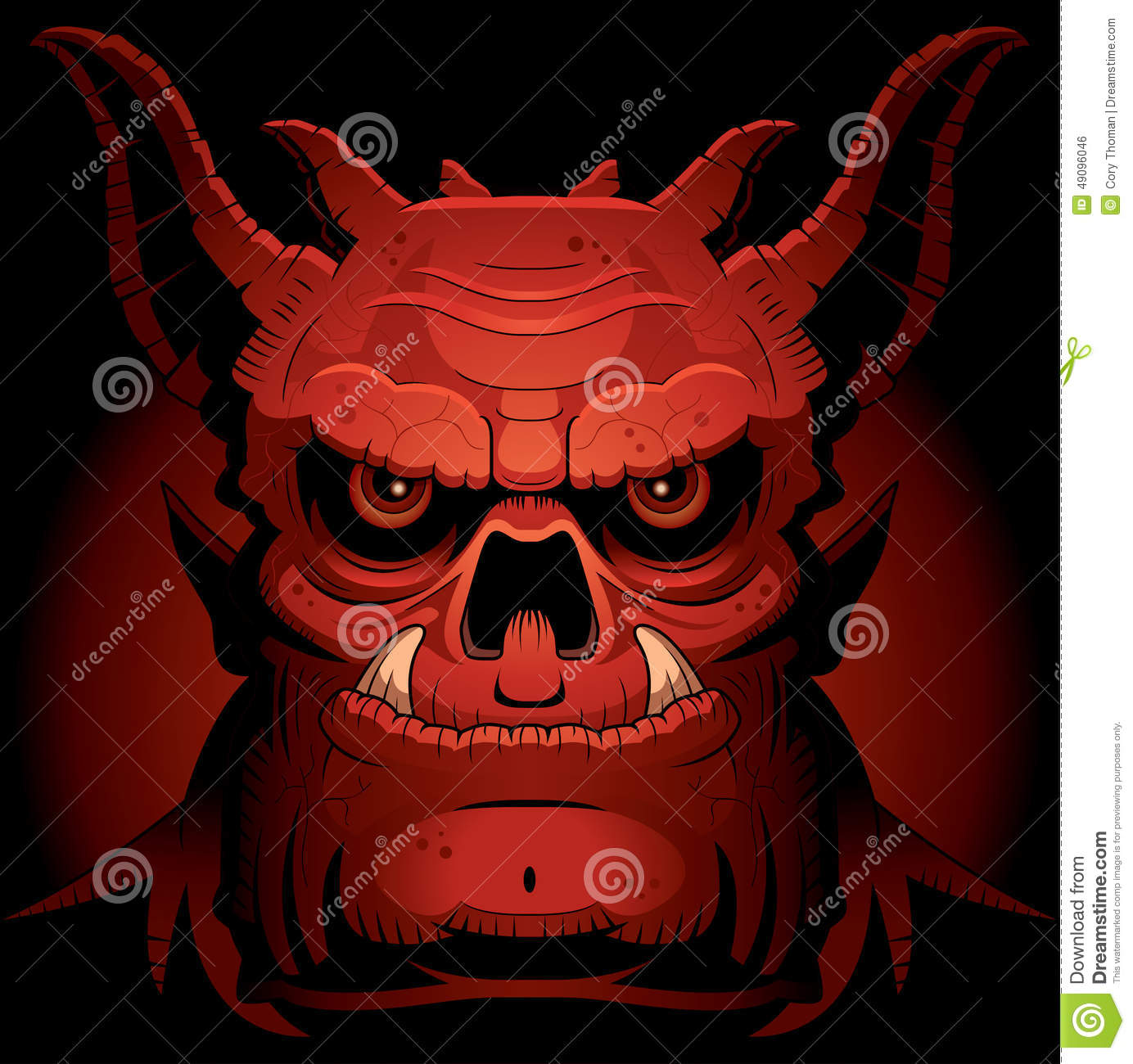 Scary Evil Demon Stock Vector - Image: 49096046