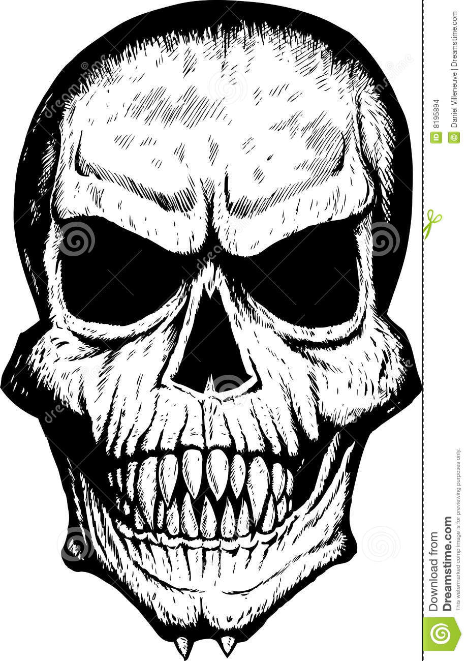 scary front skull human skull front drawing