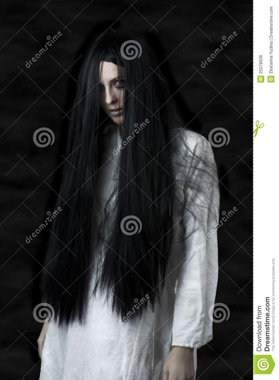 A scary ghost girl stock photo  Image of cosmetics, expression