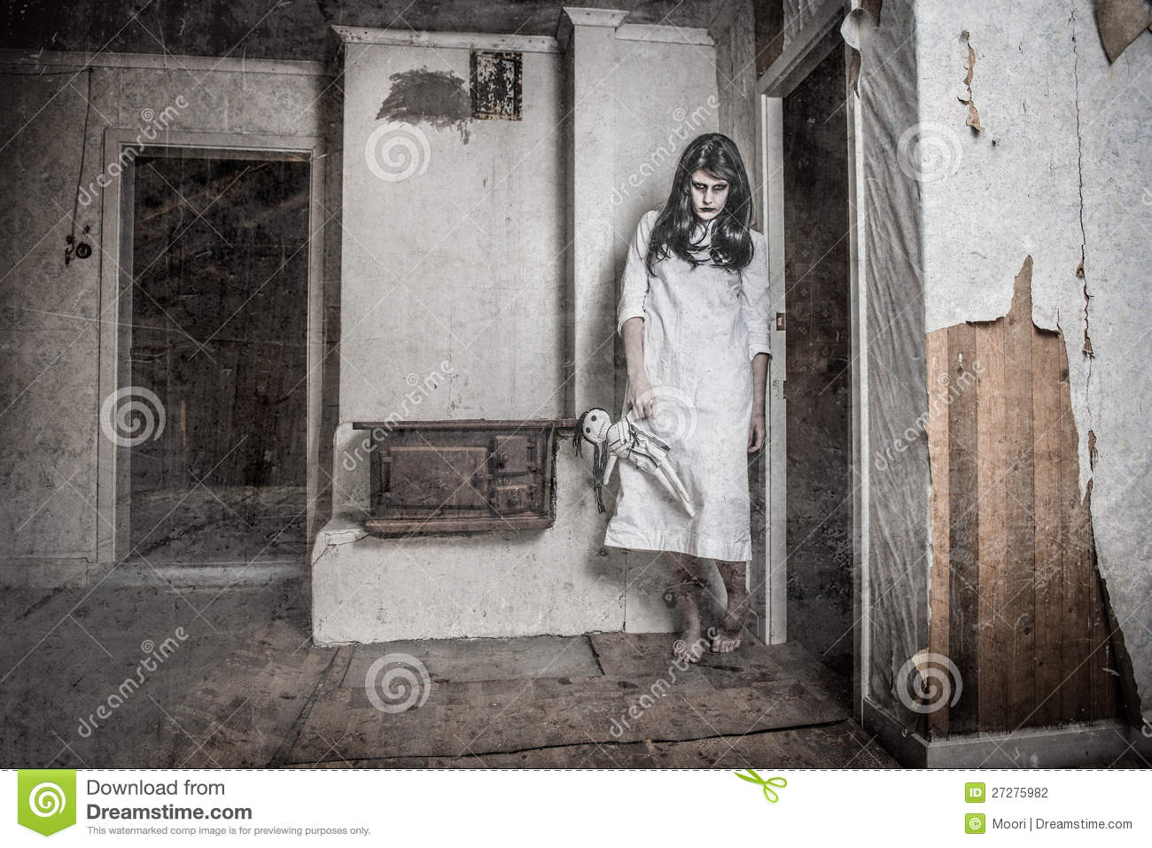 Scary Ghost Girl Stock Photography - Image: 27275982