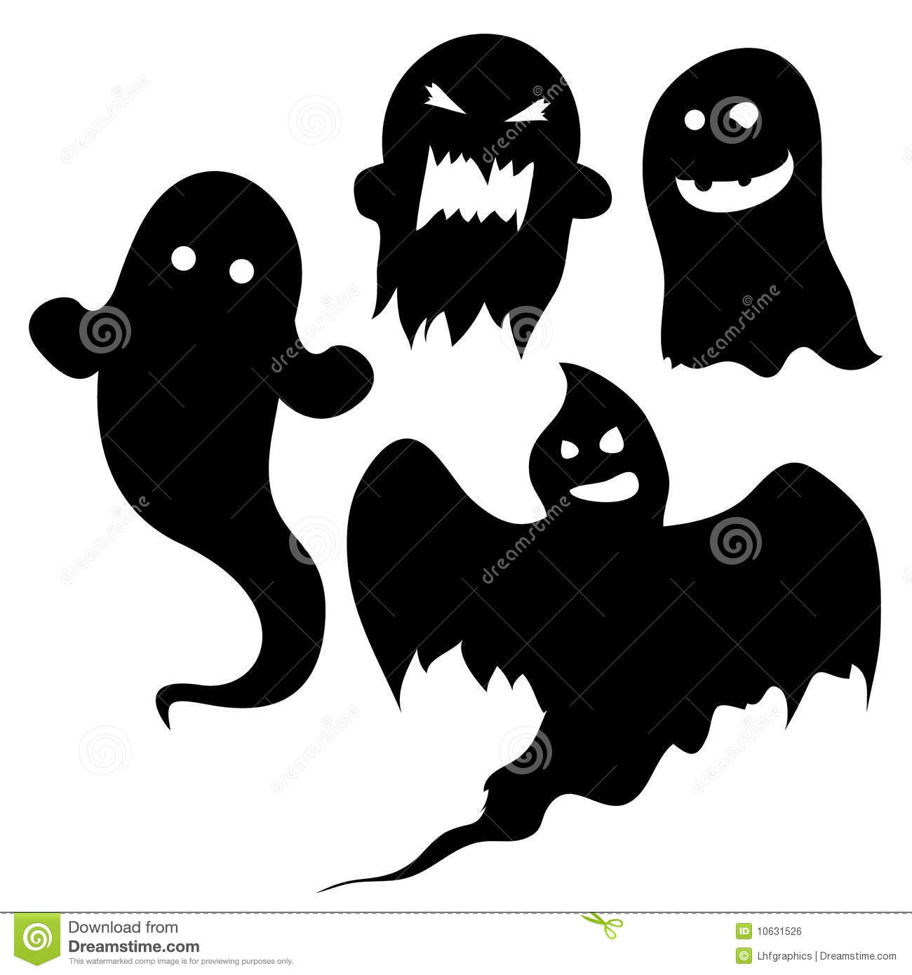 Halloween Ghost Silhouettes