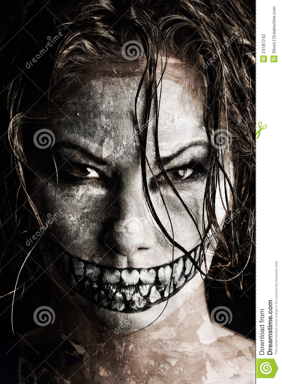 Scary Girl Stock Photography - Image: 24187242