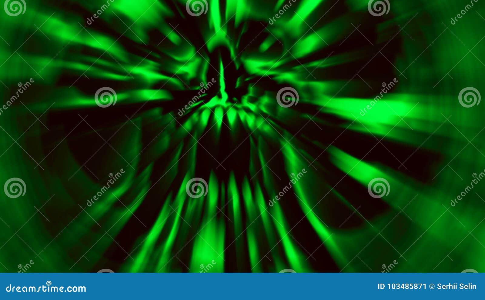 Scary green demon skull. Illustration in genre of horror.