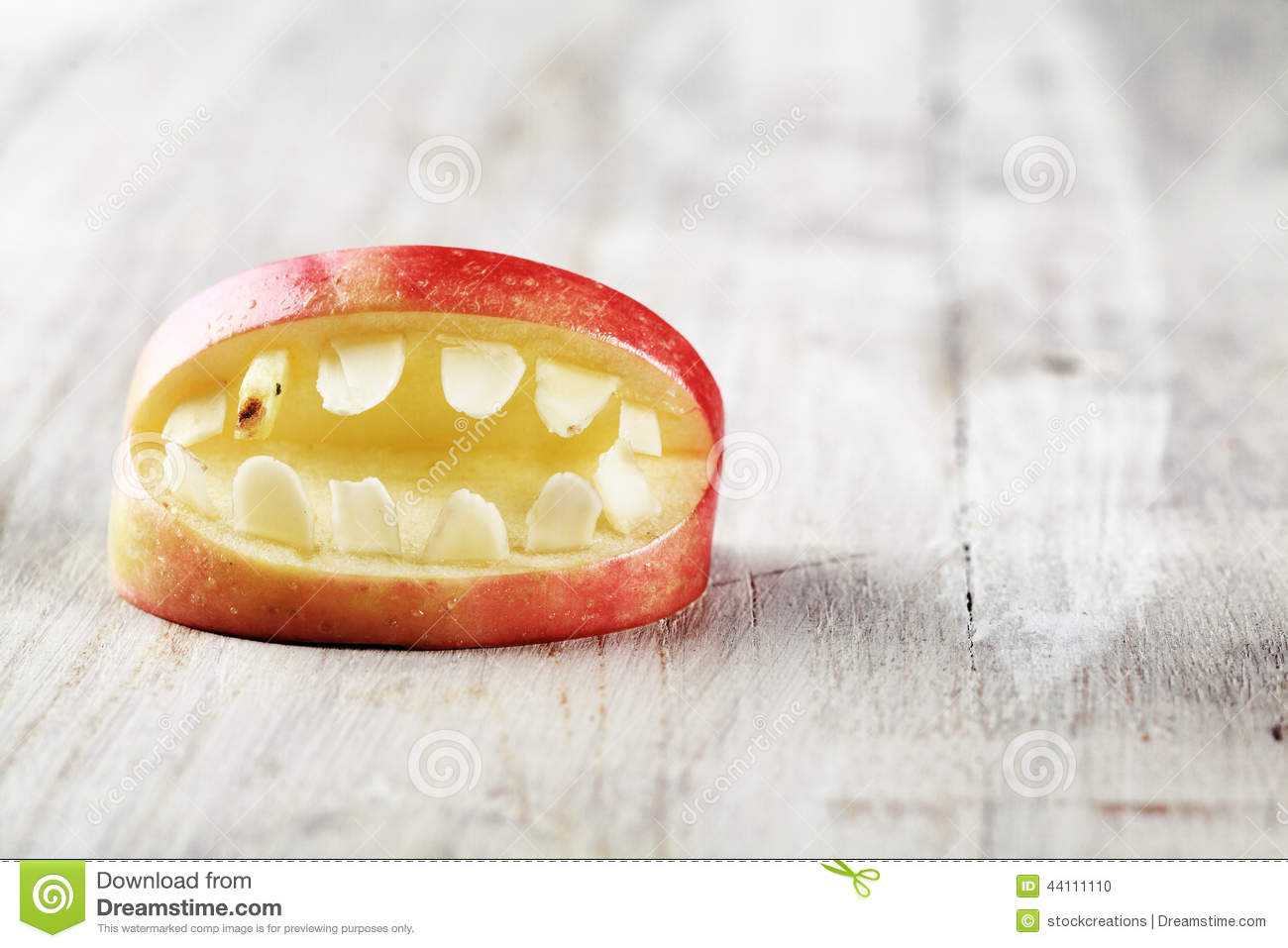 download scary halloween apple mouth with teeth stock photo image of carious dentist