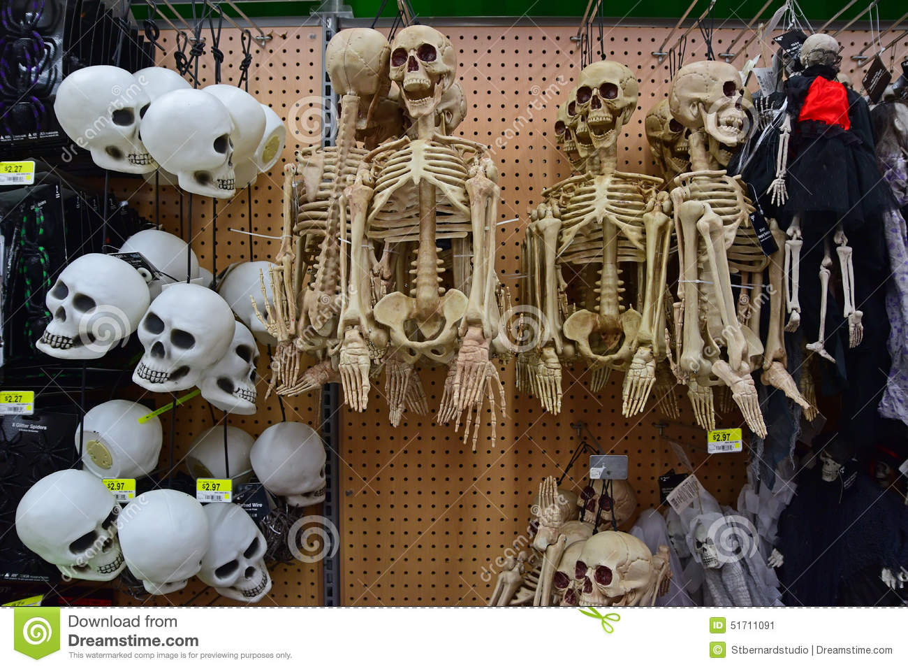 scary halloween decoration merchandise editorial photo - image of