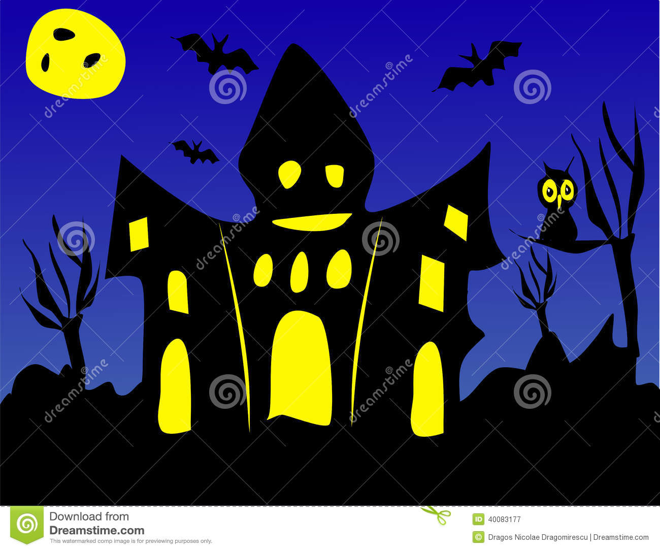scary halloween or haunted house
