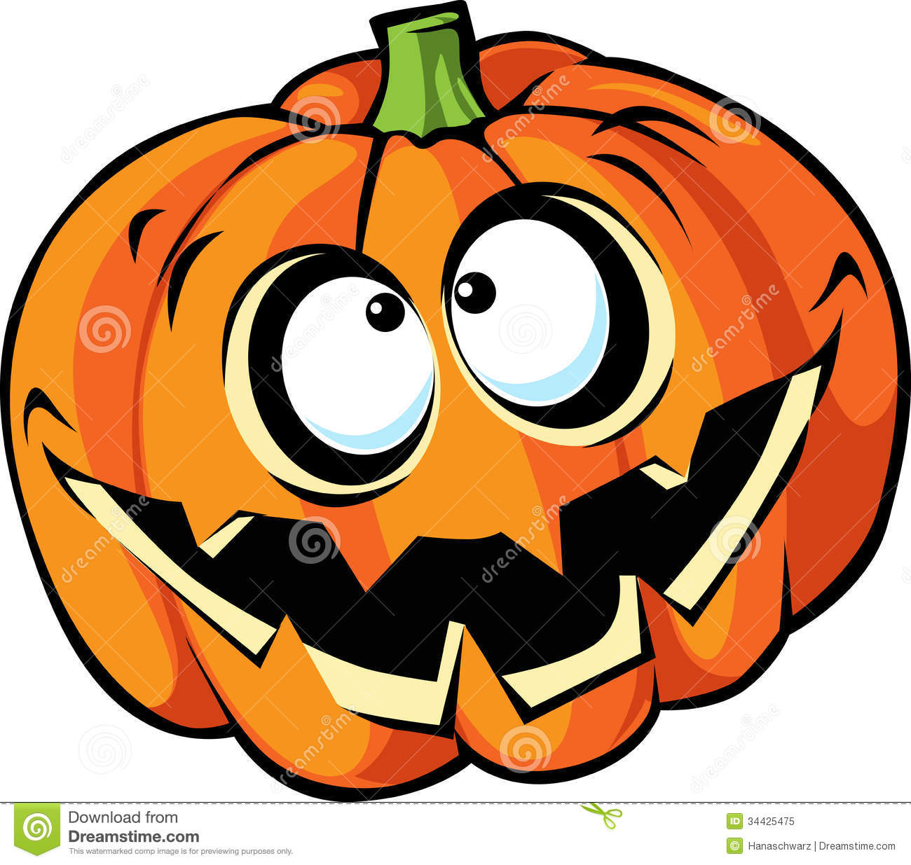 Scary halloween pumpkin cartoon