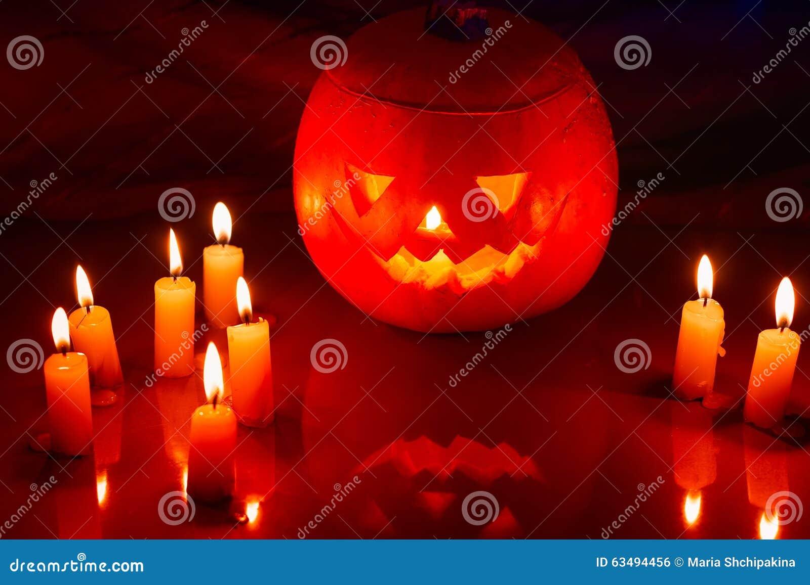 Scary Halloween pumpkin lantern ( jack-o -lantern)