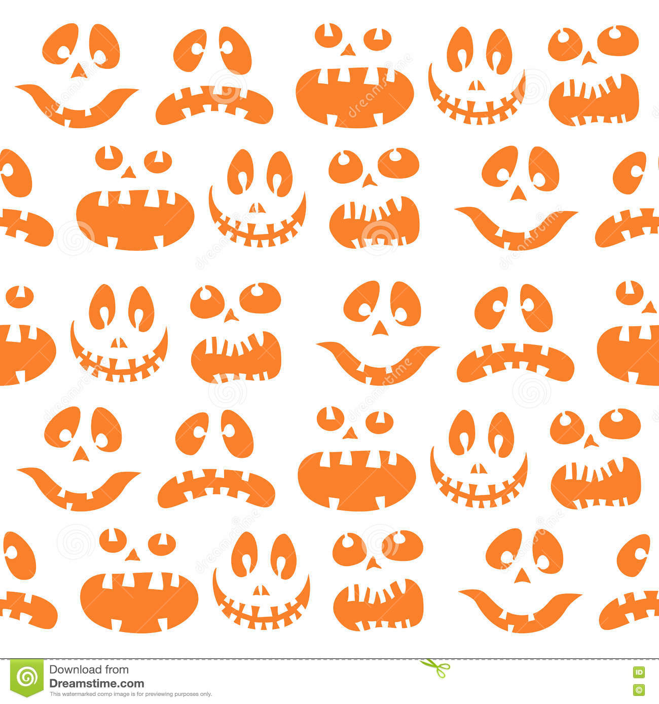 Scary Halloween Seamless Bright Kids Doodle Pattern. The
